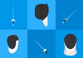Fencing Equipment Vectors