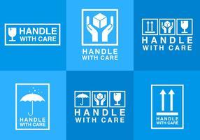 Hantera med vårdklistermärke