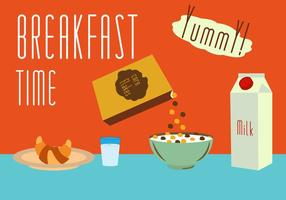 Set of Meals for Breakfast in Vector
