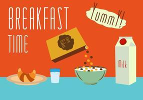 Conjunto de comidas para el desayuno en el vector