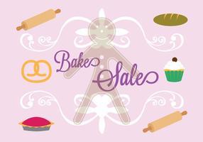 Bake verkoop poster in vector
