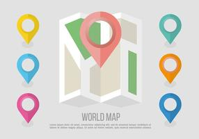 Flat Location Sign Vector Background