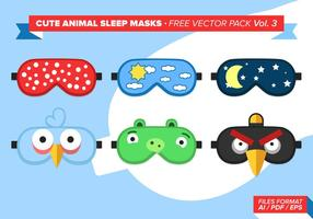 Cute Animal Sleep Maskers Gratis Vector Pack Vol. 3