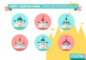 Fort Castle Icons Free Vector Pack Vol. 2