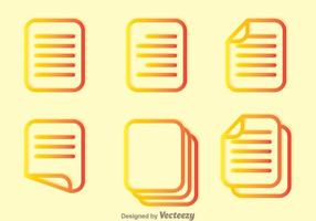 Read Outline Icons vector