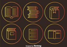 Read Outline Circle Icons vector