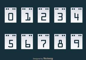 Exibição de calendário do contador de números