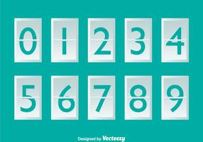 White Number Counter On Turquoise vector