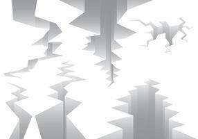 Aardbeving Fout Line Vectors