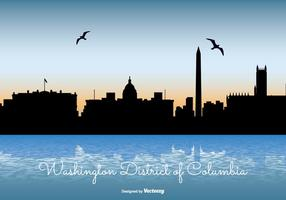 Washinton distrikt av columbia skyline illustration