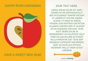 Rosh hashanah hälsning illustration