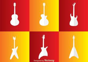 Guitarra Blanco Iconos