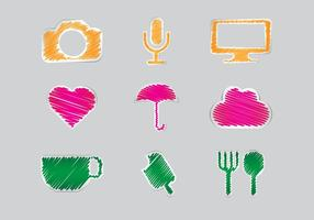 Gratis Scribble Set Vector