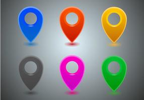 Vetor de ícones do mapa livre