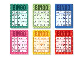 Vector de la tarjeta del bingo