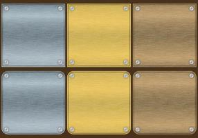 Vectores de placa de aluminio