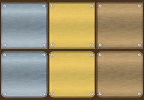Aluminiumplattavektorer