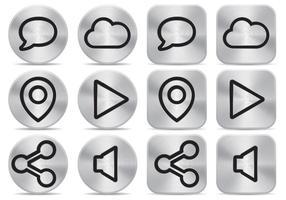 Vecteurs à boutons en aluminium