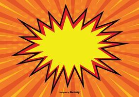 Blank Comic Style Background Illustration