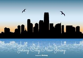Jersey City Skyline Illustratie