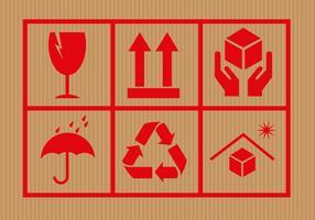 Símbolos de cartón gratis Vector
