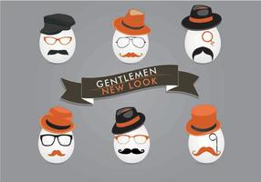 Vectores del rostro del caballero
