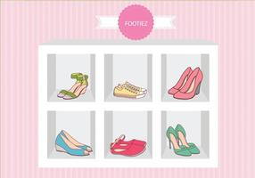 Fashion Shoes Sandal Case Vector