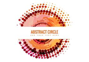 Abstract Halftone Circle Banner Vector