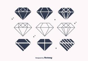 Gratis Flat Diamond Vectors