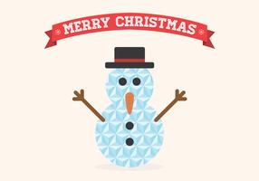 Vetor geométrico plano do boneco de neve do Natal