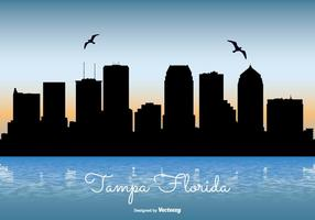 Tampa florida skyline illustration