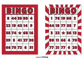 Conjunto de cartões de bingo