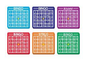 Vector de carte de bingo