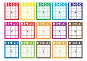 vettore di carta di bingo