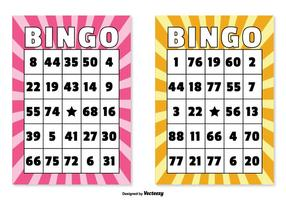 Illustrations de cartes de bingo