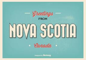 Nova Scotia hälsningar illustration