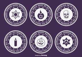 Halloween, Samhain, Dia de Muertos Abzeichen