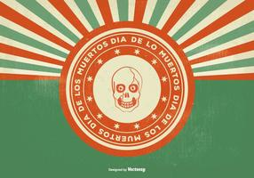 Retro Weinlese-Art Dia de Los Muertos Illustration