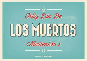 Tappning Typografisk Dia de Los Muertos Illustration