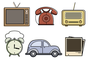 Gratis Vintage Objects Vector