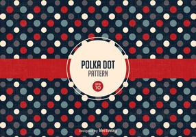 Gratis Retro Polka Dot Pattern Vector