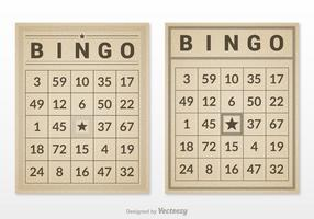 Gratis Retro Bingo Kaart Set Vector