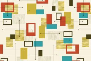 Retro Abstract Seamless Pattern vector