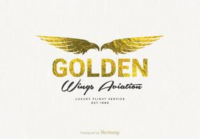 Gratis Golden Wings Logo Vector