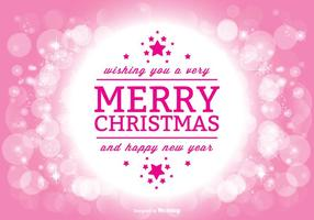 Vacker julhälsning illustration