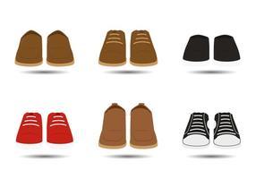 Vettori di scarpe uomo