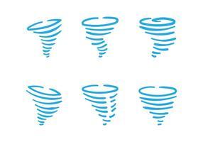 Handgetekende Tornado Vectoren