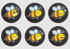 Ausdrucksvolle Bienenvektoren