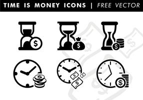 Time Is Money Icons Free Vector