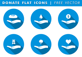 Donate Icons Free Vector